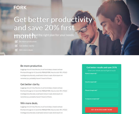 Fork Unbounce Template