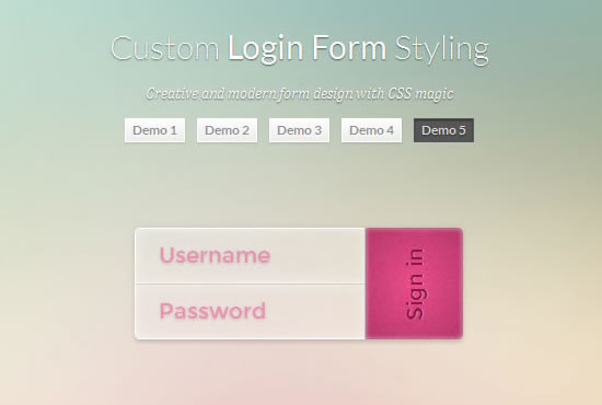 Custom Login Form Styling