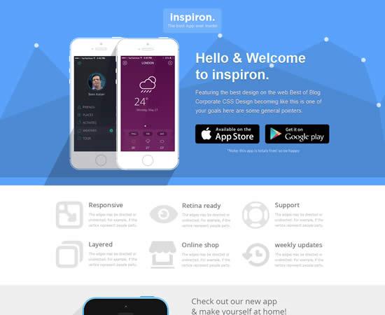 inspiron Unbounce Landing Page Templates Bundle