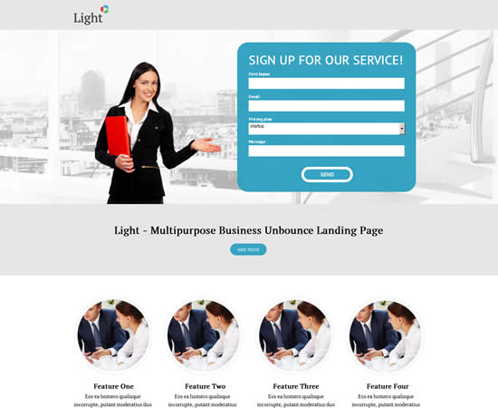 Light Business Unbounce Landing Page