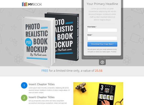 Best Landing Page Unbounce Templates WebDesignBoom - Ebook landing page template