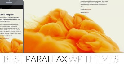 parallax wordpress themes 2014