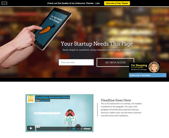 Startups Multi-Purpose Unbounce Template