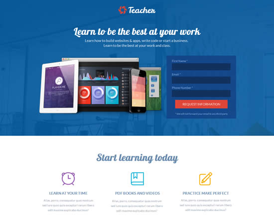 Teacher Education Collage Landing Page