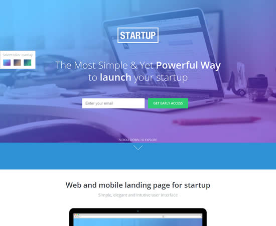 Unbounce Landing Page Template for Startups