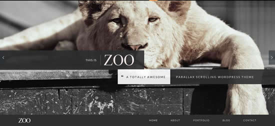 Parallax 2014 WordPress Theme
