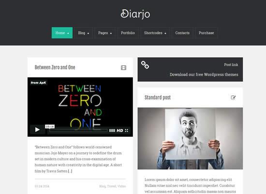 Diarjo Free Bootstrap Responsive WordPress portfolio Theme