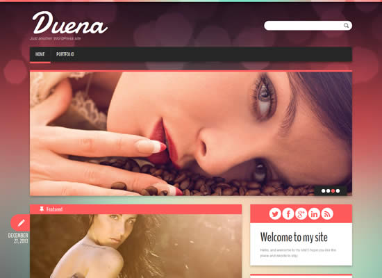 Duena Free Responsive Bootstrap WordPress Personal blogging Theme