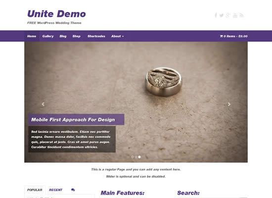 Free WooCommerce Responsive Bootstrap WordPress Theme Unite