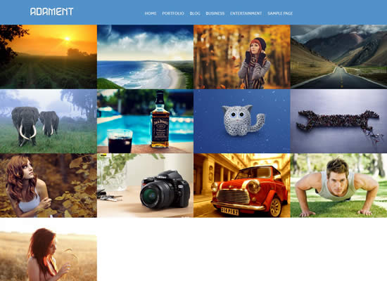 Free Responsive Adament Bootstrap WordPress Theme Photography