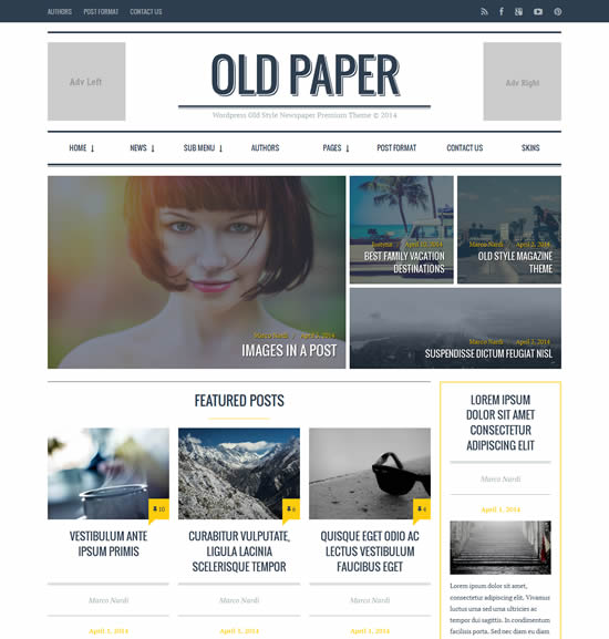 seo friendly magazine wordpress themes