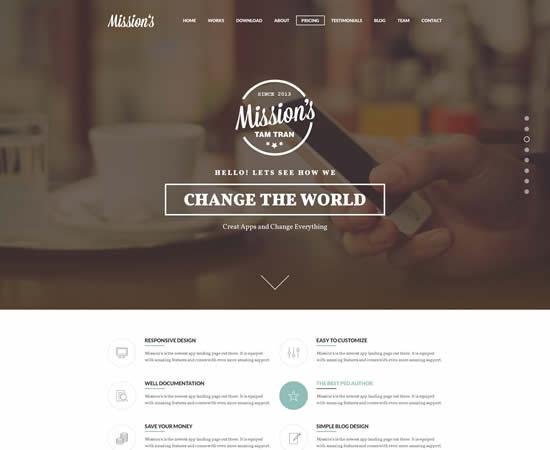 31 Premium and Best Free PSD Website Templates Design | WebDesignBoom