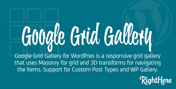 Google Grid Gallery for WordPress