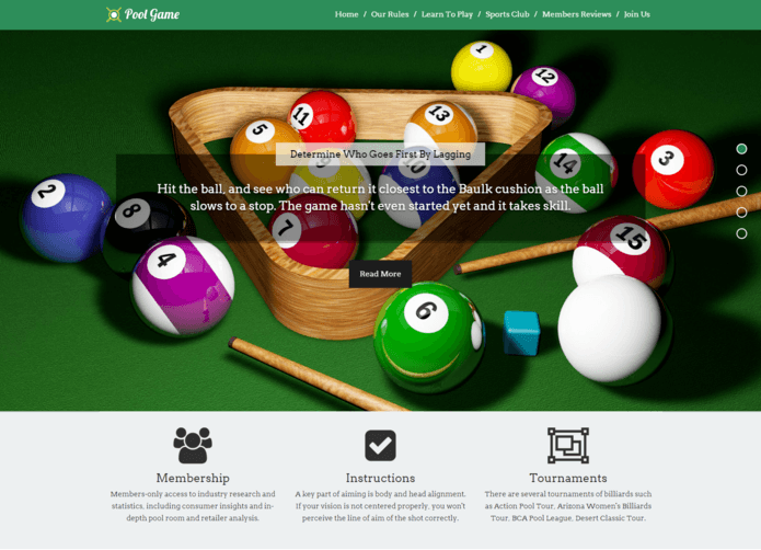 PoolGame-WordPress-Theme