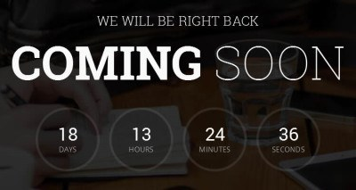 free coming soon website templates