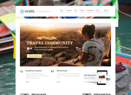 Gone - BuddyPress Theme