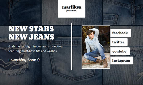 Free Coming Soon Template - Marliska Jeans