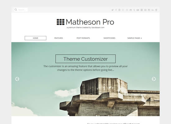 Matheson Free BuddyPress Theme