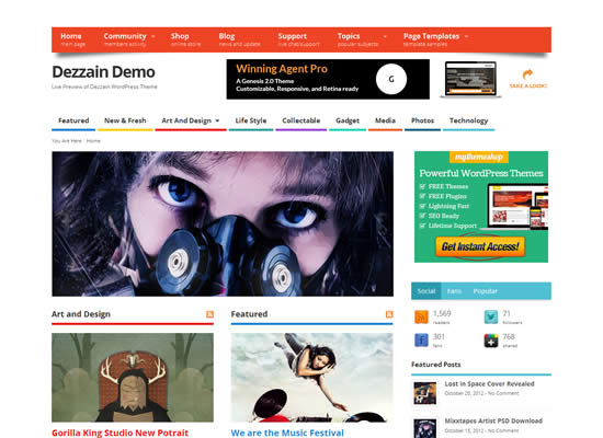 Mesocolumn Community and Ecommerce Free Theme