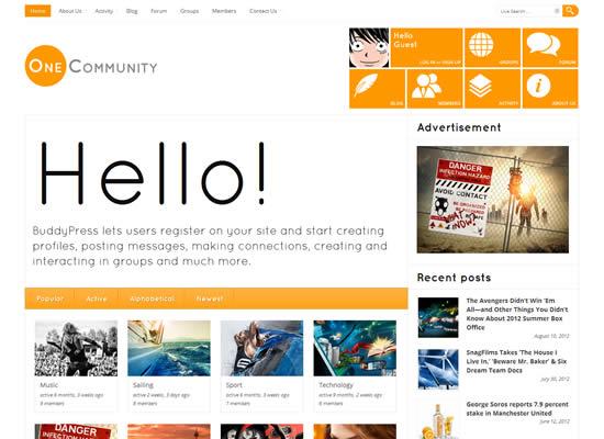 OneCommunity BuddyPress Theme