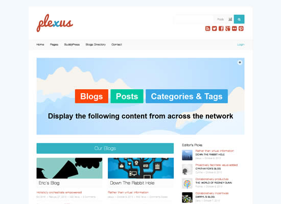 Plexus WordPress BuddyPress Theme