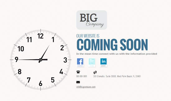Time's a Wastin - Free Coming Soon Page Template