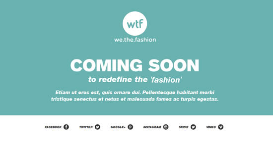 We The Fashion - Free Coming Soon Page Template