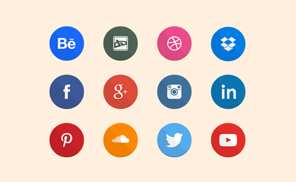 Free Flat Social Icons - by Joe Hist