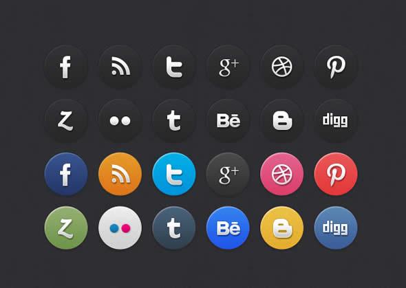 Circle Social Media Icons