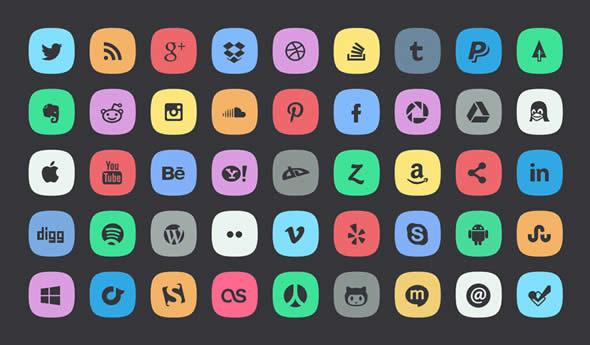 Subtle Social Icons