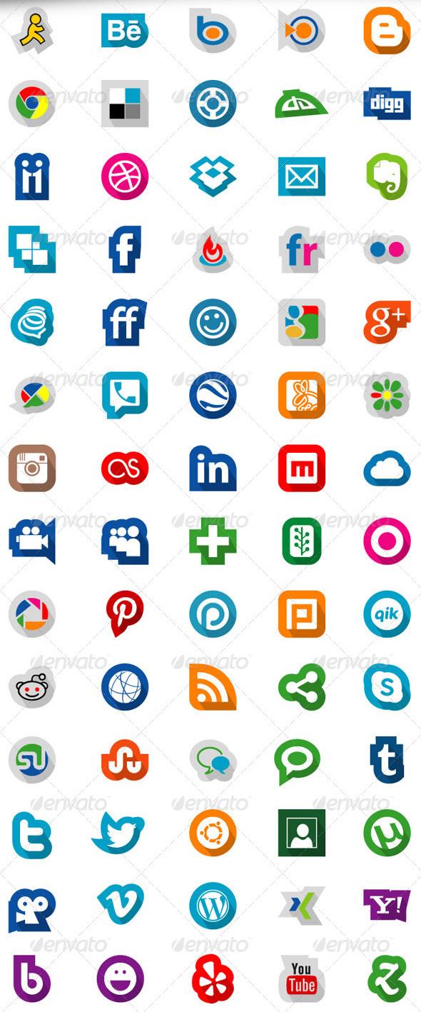 70 Social Media Icons