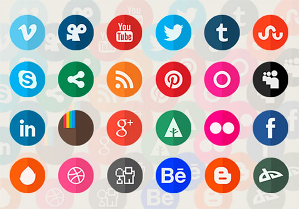 Circle Flat Icons for Download