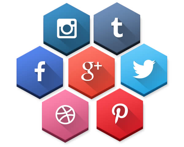 Free Hexagonal Social Media Icons