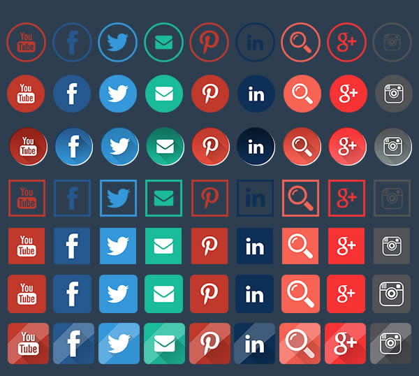 Free Social Icons Design
