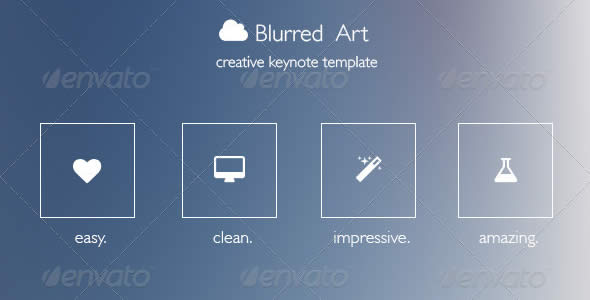 Blurred Art Creative Keynote Template