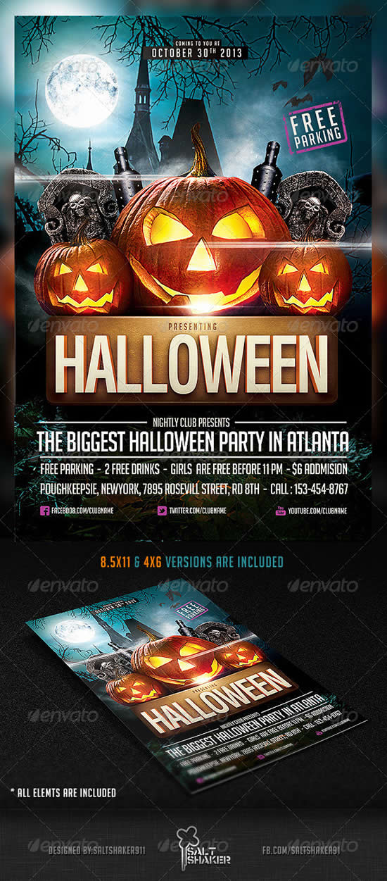 23 best party poster templates webdesignboom for Party brochure template