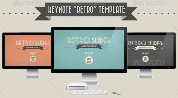 Retro Slides Keynote Template