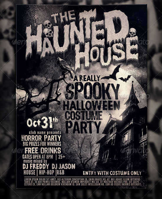 The Haunted House Flyer Template