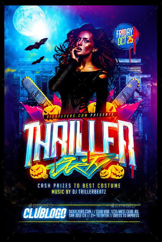 Thriller Halloween Party Flyer