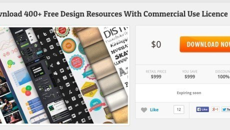 Download 400+ Free Web Design Resources with InkyDeals!