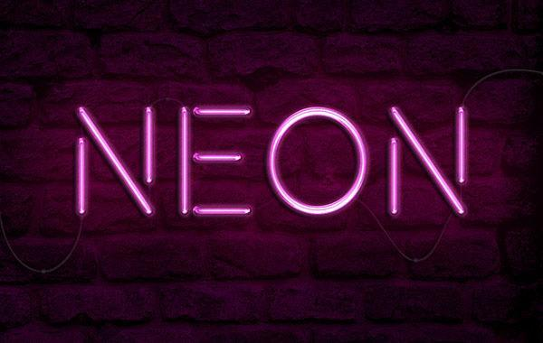 Bright Neon Light Text Effect - 600