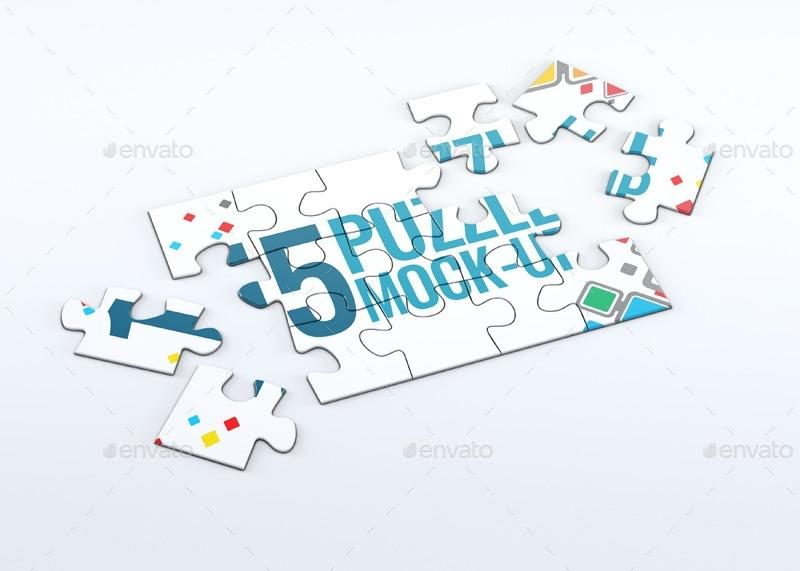 Puzzle 15 Pieces MockUp