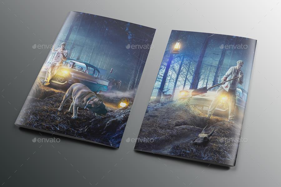 Photorealistic Reflective Glossy Brochure Mockup