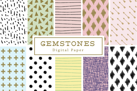 10 Gemstones Backgrounds