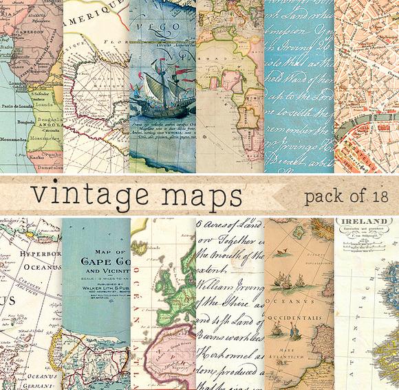 18 Vintage Maps
