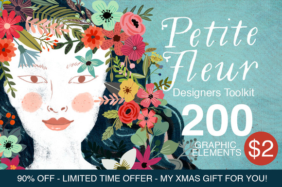 Petite Fleur Designer's Toolkit - 200 Elements