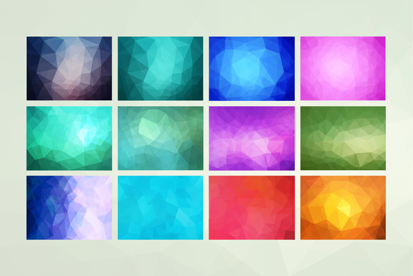 12 Geometric Backgrounds