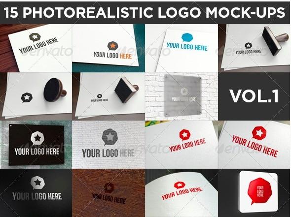 15 Realistic Logo Mockups