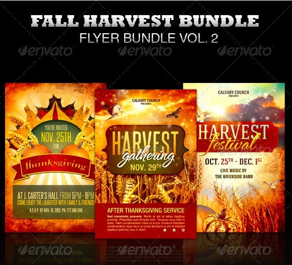 Fall Flyer Template Bundle