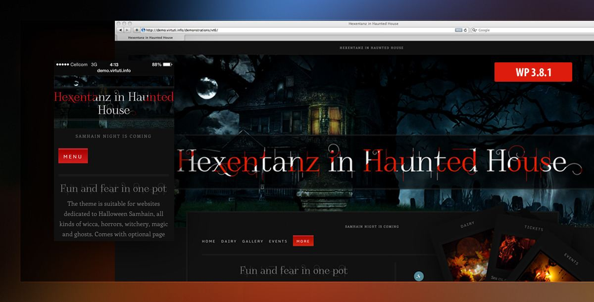 Halloween Horror Events Spooky WP Theme